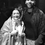 Con Carla Fracci (dopo la prima di Baccanti, le altre)